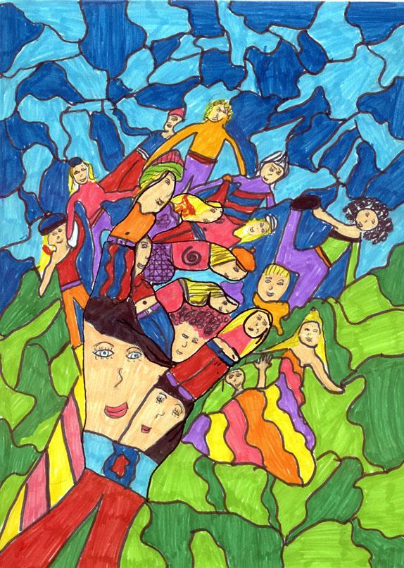 Une main est cach e dans ce dessin analyse de formes 4 me les travaux d 39 arts plastiques des - Dessin art plastique a imprimer ...