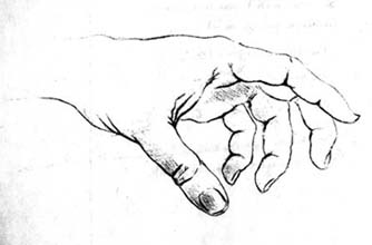 une main est cachée dans ce dessin analyse de formes 3ème les